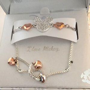 NIB Disney 90 Anniv. Mickey Swarovski Bracelet